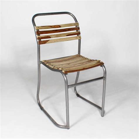 chaise bois et metal chaise industrielle bois et métal gris transat made in