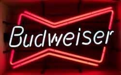 Budweiser Bowtie Neon Sign