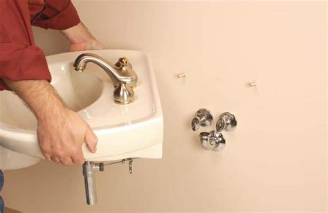 install  wall mounted sink