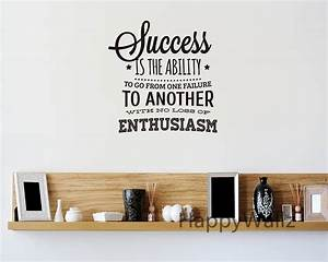 success motivational quote wall sticker enthusiasm quote With name decals for walls inspiration