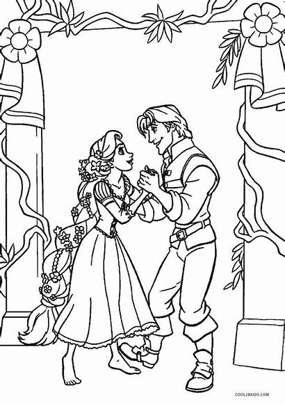 Coloring Tangled Pages Rapunzel Printable Cool2bkids