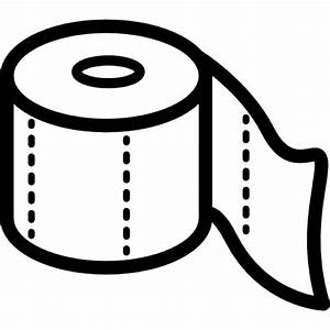 Toilet paper roll outline Icons | Free Download