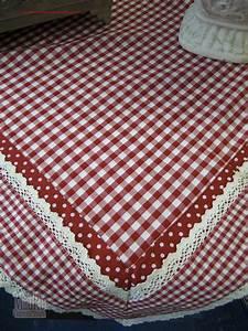 Tischdecke Mit Spitze : tischdecke rot kariert mit spitze 130x180 mauro gartenleben ~ Lizthompson.info Haus und Dekorationen