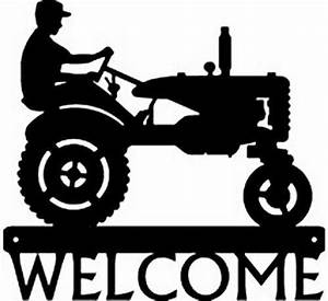 Farm Tractor #1 Metal Art Silhouette Welcome Sign NEW
