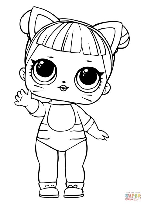 LOL Doll Baby Cat coloring page Free Printable Coloring
