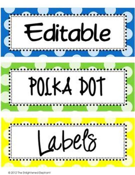 editable polka dot labels clip art images