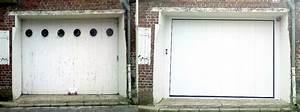 remplacement d une porte de garage par une autre en bois With porte garage laterale motorisée