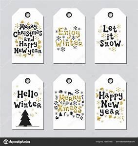 Geschenkanhänger Weihnachten Drucken : geschenkanh nger f r weihnachten und neujahr karten weihnachten gold gesetzt hand gezogene ~ Eleganceandgraceweddings.com Haus und Dekorationen
