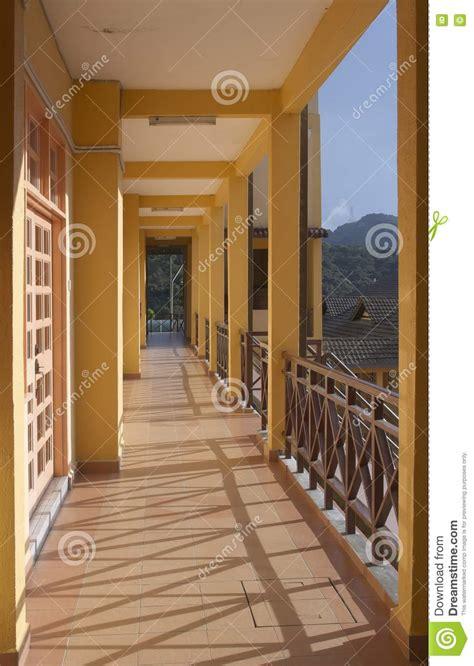 perspective view  building corridor royalty  stock