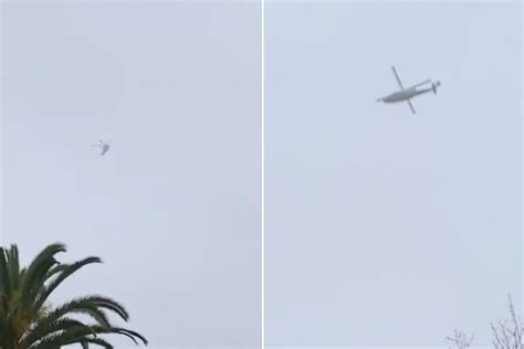 helicopter carrying kobe bryant circles  mans home