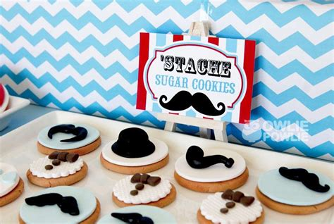 man mustache bash baby shower party ideas photo