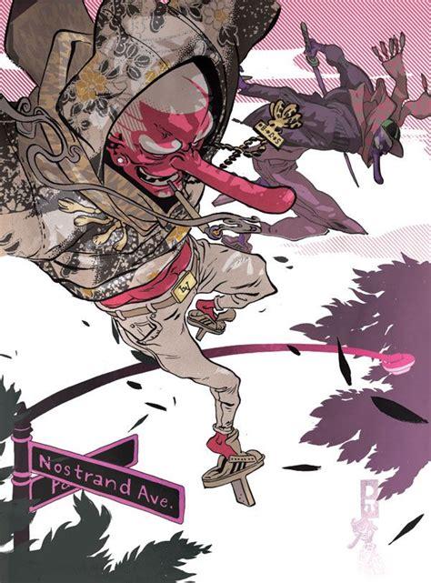 ronald wimberly  york usa arte de samurai dibujos