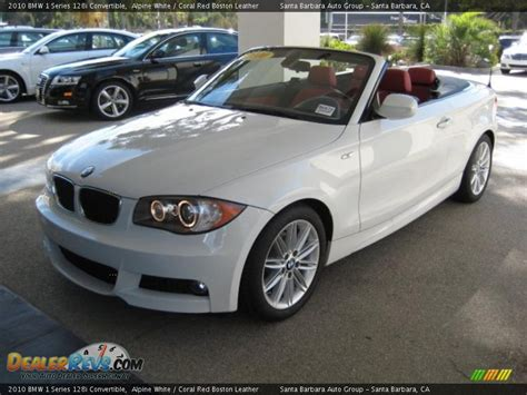 2010 Bmw 128i by 2010 Bmw 1 Series 128i Convertible Alpine White Coral