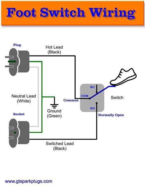 foot switch wiring diagram  diy diy diagram wire