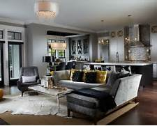 Transitional Open Concept Living Room Photo In Other With Gray Walls Gray Living Room Transitional Living Room New York By K D Contemporary Yellow And Gray Living Room Contemporary Living Room Grey Sofa Living Room Design Ideas Remodels Photos Houzz