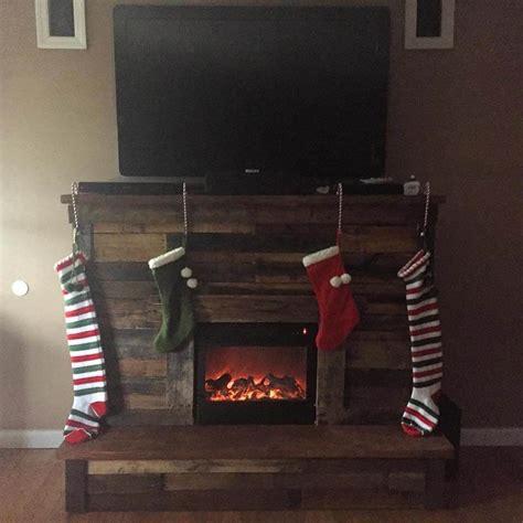 pallet fireplace  tv stand  pallet ideas