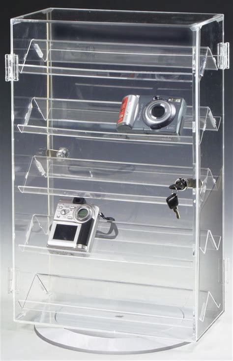 rotating countertop display case rotating base  shelves