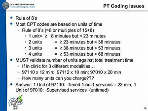 Medicare 8 Minute Rule Chart Ppt 2010 Ubo Ubu Physical Therapy Coding Billing