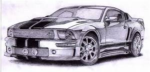 Ford Mustang Drawing at GetDrawings   Free download