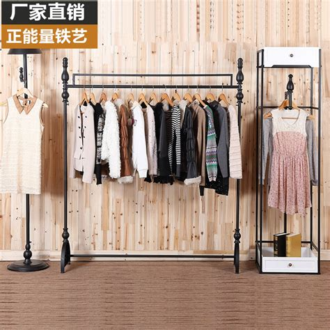 hang clothes on wall continental iron clothing rack clothes hanging wall side positive personality horizontal bar