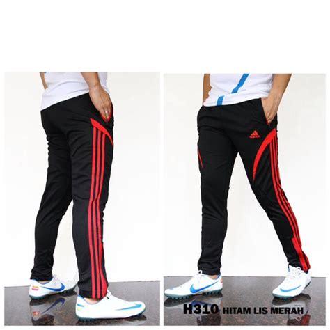 Adidas Derby Merah List Hitam jual celana ad h310 hitam lis merah 24976