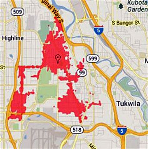 seattle city light power outage map power outage hits 4 900 customers in south seattle the