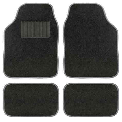 4 tapis de voiture universels moquette aquarella noirs et gris norauto fr