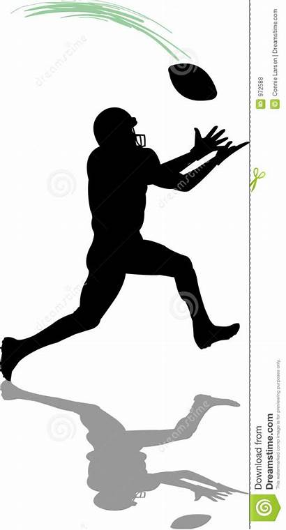 Football Receiver Ricevente Calcio Gioco Illustrazione