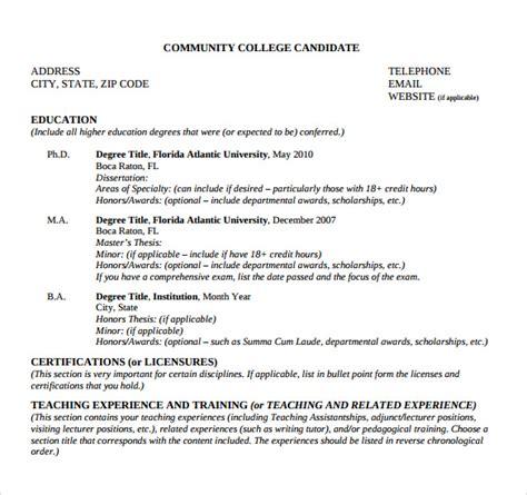 College Tutor Resume by Sle Tutor Resume Template 7 Free Sle Exles