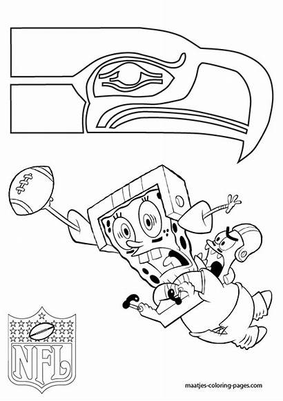 Seahawks Coloring Pages Seattle Nfl Football Printable