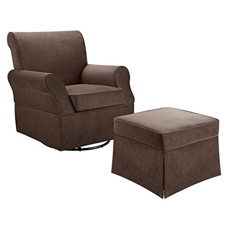 baby relax kelcie microfiber swivel glider and ottoman