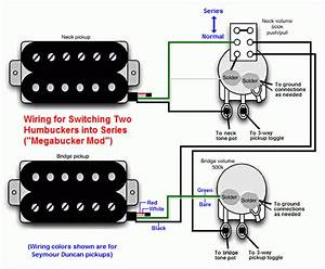 U0026quot Megabucker U0026quot  Switch Wiring Configuration  Puts Two Humbuckers In Series