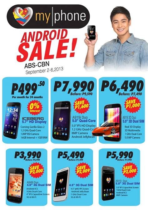 Myphone Mobile Phones Price List by Myphone Iceberg Plus Five Agua Android Smartphones On Sale