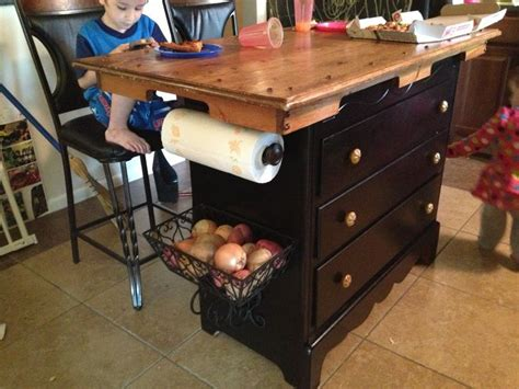 turn dresser into kitchen island turned a dresser into a kitchen island table top on top 9496