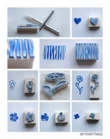 Make Stamps From Erasers