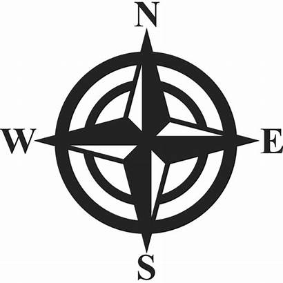 Compass Directions Classic Stamp Rubber Nautical Stamps