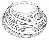 Coloring Pot Pottery Template sketch template
