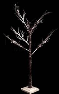 large indoor and outdoor brown light up snow covered twig With outdoor light up twig tree
