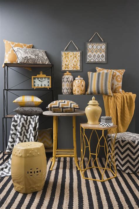 Living Room Furnishings by Global Traveller Mustard Range Combine Mustard Yellow