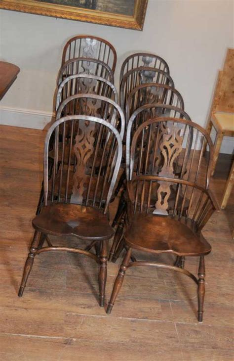 antique windsor kitchen dining chairs set
