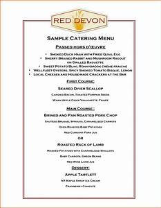 catering menu template free 28 images restaurant menu With catering menus templates