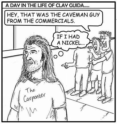 Clay Caveman Cartoon Humor Funnies Fight Guida