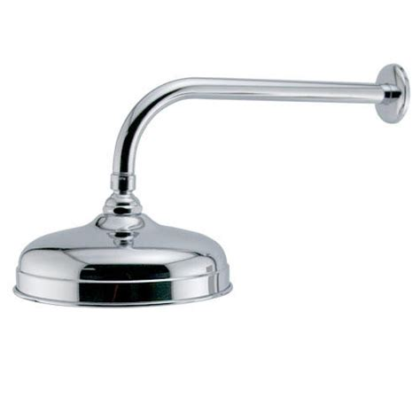 Extended Shower Arm - rainfall nozzle shower with extended arm bathroom