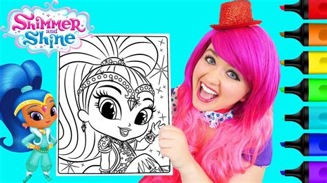 Coloring Kimmi by Coloring Shine Shimmer And Shine Coloring Page Prismacolor