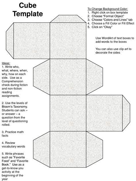 Cube Template Cube Box Template Pictures To Pin On Pinsdaddy