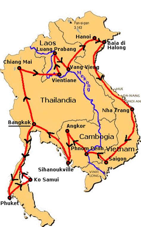 itinerario - Indocina: Thailandia, Laos, Vietnam e Cambogia