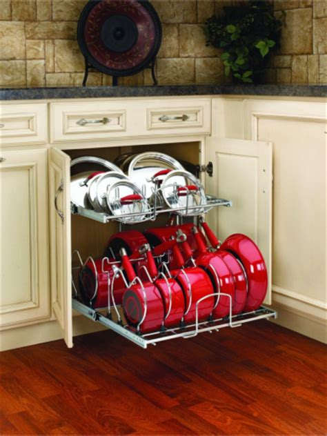 kitchen storage for pots and pans diy knock organization for pots pans how to 9597