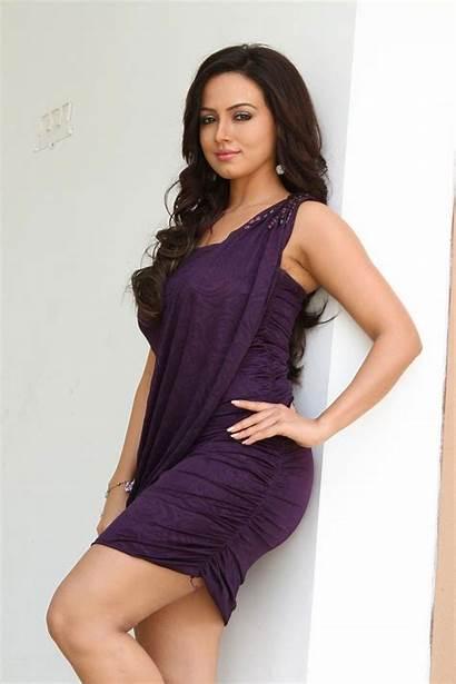 Sana Khan Actress Indian Sexiest Stills Bra