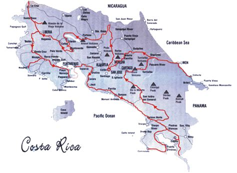 Kammer's Flitterwochen Costa Rica / Reiseroute