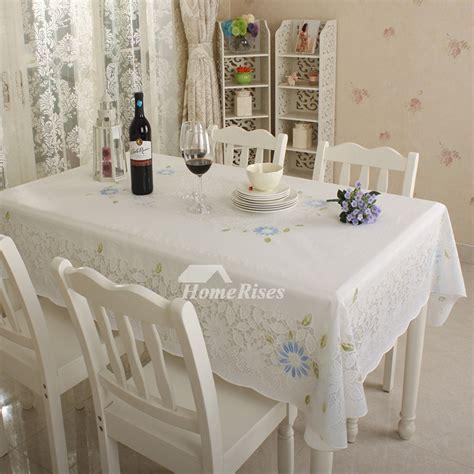 kitchen tablecloth ivoryblueorangesilver pvc waterproof